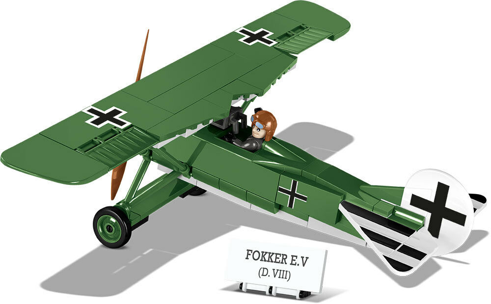 Konstruktion Spielzeug Bausteine Fokker EV (D.VIII) - Kampfflugzeug COBI 2976