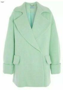 TOPSHOP-BNWT-Mint-Green-Coat-Size-Large-Eu-44-UK-12-14-RRP-140-00