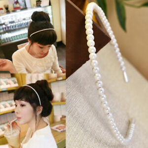 Women-039-s-Pearl-Hairband-Headband-Crystal-Hair-Accessories-Hair-Hoop-Wedding-Party