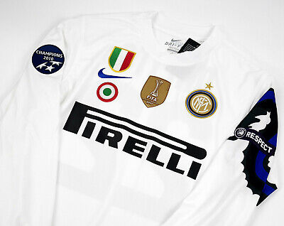Inter Milan Away Retro Shirt 2010 11 Long Sleeve Zanetti Milito Size S M L Xl Ebay