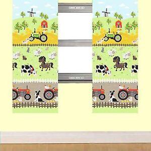 Apple-Tree-Farm-66-034-x-72-034-Doublure-Rideaux-Embrasses-Assorti-Housse-de