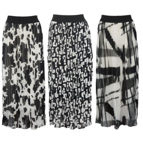 Ladies Womens Sheer Chiffon  Elasticated Waist Maxi Gypsy Plain Long Maxi Skirt