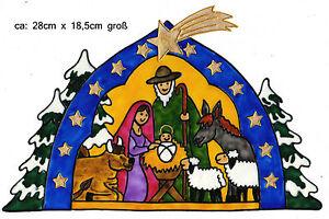 Weihnachten Krippe Bilder.Details Zu Window Color Bild Fensterbild Fensterfolie Weihnachten Krippe 190