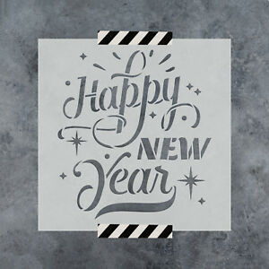 Happy-New-Year-Stencil-Durable-amp-Reusable-Mylar-Stencils