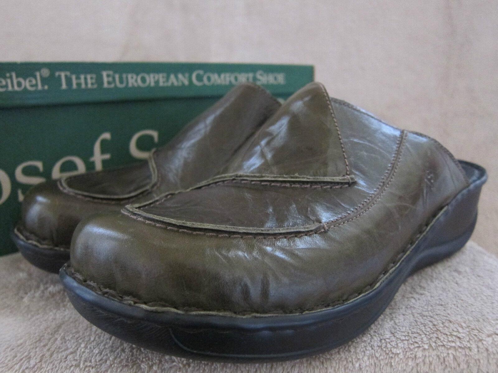 JOSEF SEIBEL Donna Emma Forest Slip On Clogs Scarpe US 10 - 10.5 M EUR 41 NWB