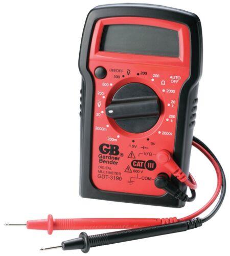 New Gardner Bender GDT-3190  4-Function Manual Ranging Digital Multimeter