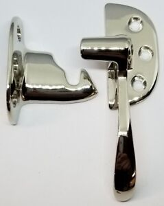 RIGHT HAND NICKEL Plated Ice Box Latch 3/8 Off Set antique vintage retro solid