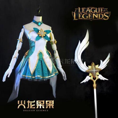 LOL Start Guardian Magic girl Soraka cosplay costume New free shipping Halloween