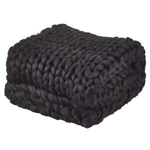 Chunky Wolle Xxl : handgestrickte chunky knit decke xxl neu schwarz kuschel ~ Watch28wear.com Haus und Dekorationen