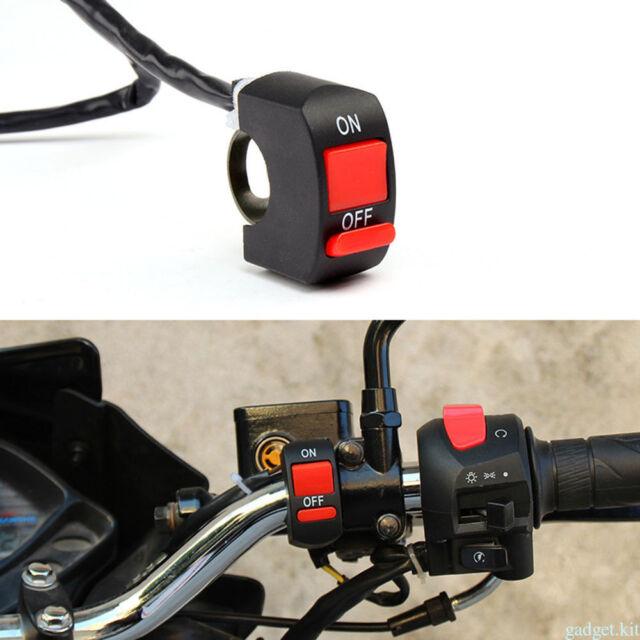 LED Light Kill Stop Switch ON/OFF Button Handlebar Motorcycle Switch ATV Bike