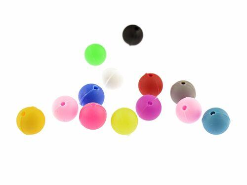 """10 en silicone perles /""""rainbow/"""" en Farbmix"""