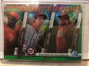 2017-Bowman-Chrome-TPM-WAS-Victor-Robles-Fedde-Voth-Green-Mojo-63-99-Nationals