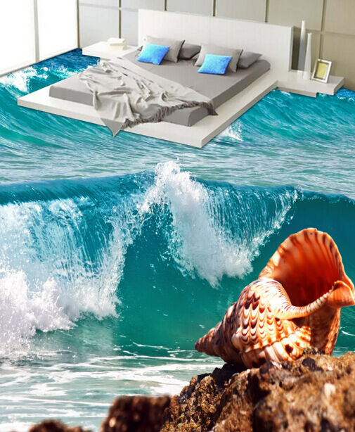 3D Rolling Waves 3 Floor WallPaper Murals Wall Print Decal 5D AJ WALLPAPER