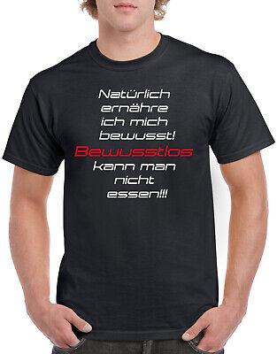 2019 Neuestes Design Herren T-shirt Spruch Bewusste_ernaehrung Spruch Text Cool Designer Shirt - S-5x SchüTtelfrost Und Schmerzen