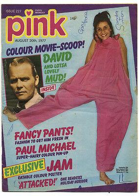 PINK Magazine No 227 August 20, 1977 The Jam David Soul Paul Michael Bryan Ferry