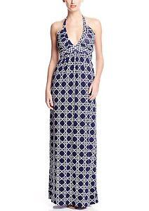 5b50721e5cb TART Collections  Tiffany  Navy Geo Print Maxi Dress Sz M Beautiful ...