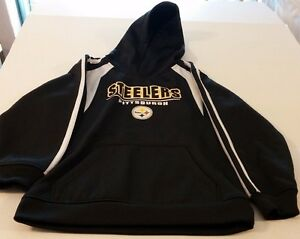 innovative design 73431 c9e22 Details about NFL Team Apparel Youth Long Sleeve Pittsburgh Steelers Hoodie  Size M (8-10)