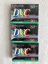 5 cassette video mini-dv FUJI DV 60 min.Sp //90 min LP DVC CASSETTA  FUJIFILM