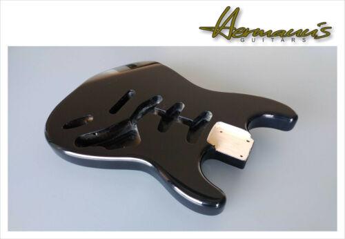 glänzend schwarz Alder Body Finish High Gloss Black Stratocaster Erle Body