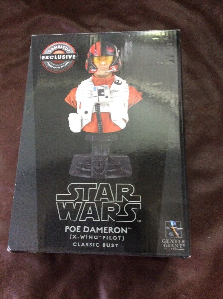 Star Wars Wars Wars Poe Dameron X-Wing Pilot Classic Bust New In Box FAST FREE SHIPPING e7ce31