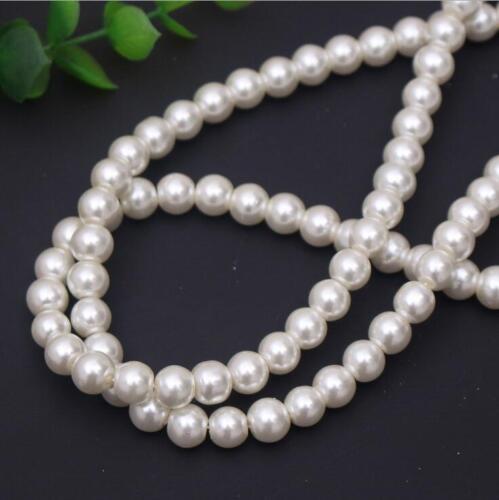 Imitation perles Loose Beads Rond Pour Bracelet Bijoux Making Vêtement À faire soi-même