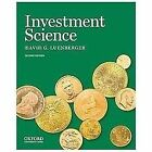 Investment Science by David G. Luenberger (2013, Hardcover)
