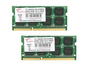 G.SKILL 8GB (2 x 4GB) 204-Pin DDR3 SO-DIMM DDR3 1333 (PC3 10600) Laptop Memory M