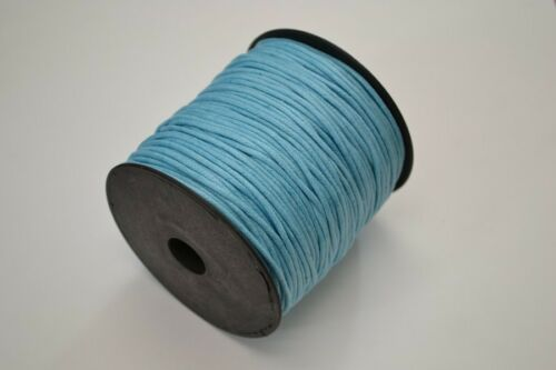 100 METER BLUE WAXED COTTON BEADING CORD STRING ROLL 2MM #F-52A