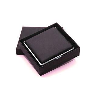 Black-Genuine-Leather-Cigarette-Case-Box-Hold-For-20-Cigarettes-With-Gift-Box