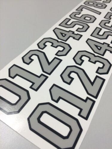 "Hockey Football Softball Lacrosse Baseball Casque épais Numéro stickers 1.65/"""