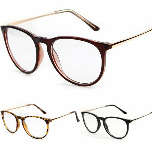 New Keyhole Clear Lens Fashion Retro Glasses Slim Frame Women/'s Mens Oval