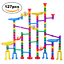127 Pcs Marble Race Track for Kids with Glass Marbles Upgrade Marble Run Set