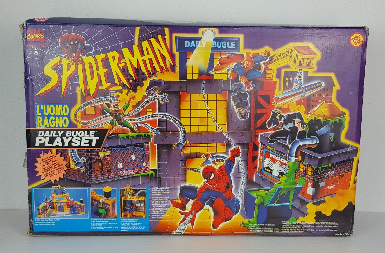 SPIDER-MAN DAILY BUGLE PLAYSET TOYBIZ MARVEL - VINTAGE - NUOVO FACTORY SEALED