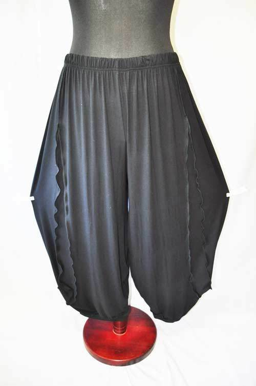 Lagenlook ° oversized Jersey-Balloon pants°refined Insert°50,52,54,56,XXL,XXXL