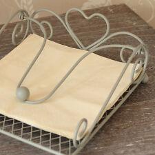 Metallo Grigio Cuore NAPKIN HOLDER Serviette BARBECUE TAVOLA CAFE ponderata tabella