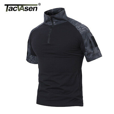 Dirt n Dunes Long Sleeve Tactical T-shirt Python Black Combat Fishing Airsoft