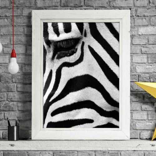 AFRICAN PATTERN Sizes A5 to A0 **FREE DELIVERY** Zebra Poster Picture Print