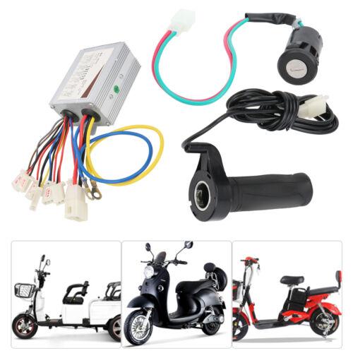 24V 500W E-Bike Elektrofahrrad Zweigang Controller Gasgriff Lock Umbausatz Kit