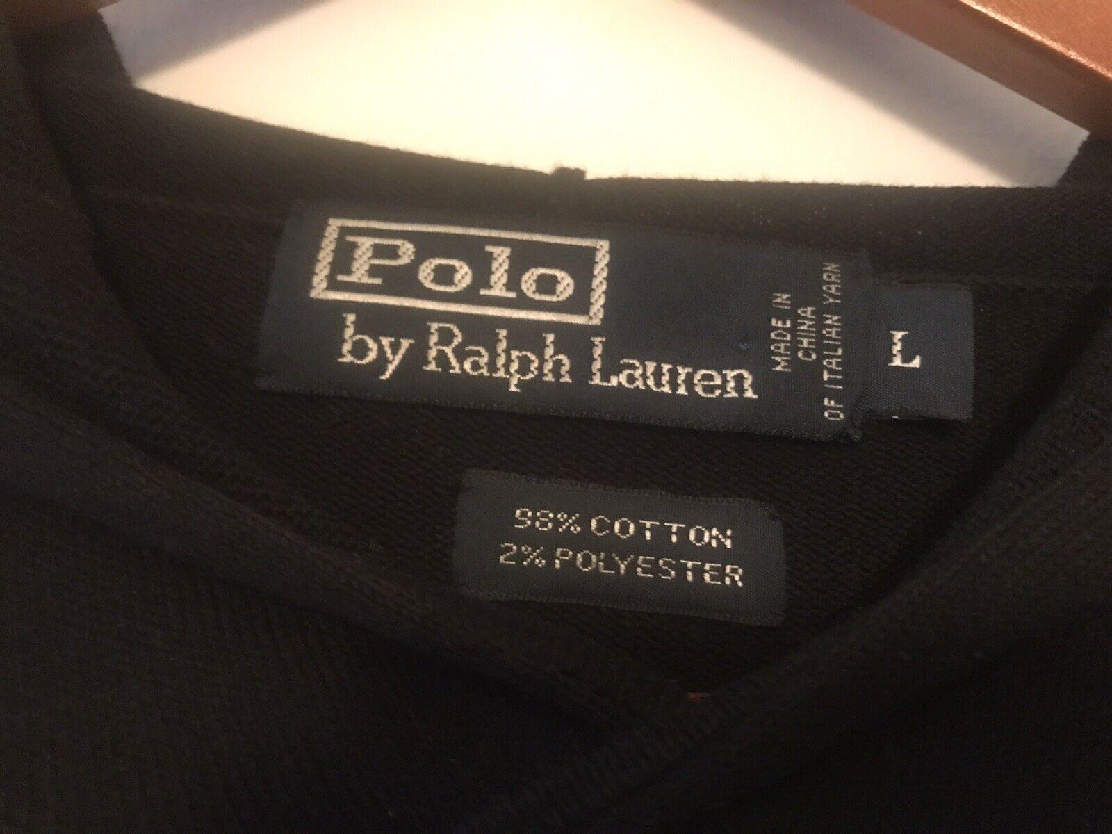 Vintage Snow Beach Black Polo Crest Lightweight S… - image 3