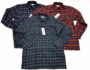 Mens-Checked-Lumberjack-Brushed-Cotton-Long-sleeved-casual-Winter-Work-Shirt