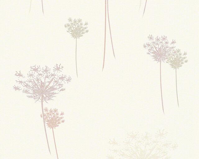 Vlies Tapete DANIEL HECHTER 3 AS 95283 2 Puste Blumen Creme Beige Braun  Struktur
