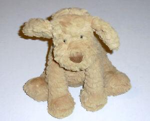 "Jellycat Fuddlewuddle Dog 9"" Floppy Plush Tan Brown Soft Puppy Stuffed Animal"