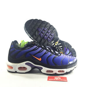 sale retailer 6f2a1 cc1ef Details about New! NIKE AIR MAX PLUS TN AQ4629-002 Black/Total  Orange/Psychic Purple c1