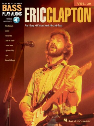 Eric Clapton Sheet Music Bass Play-Along Book and Audio NEW 000701183