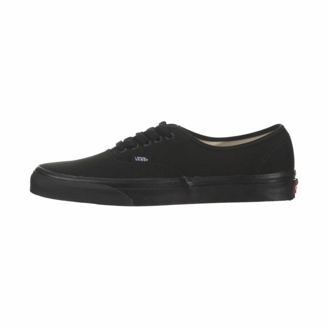 VANS Men Shoes Authentic All Black Canvas Fashion Skate SNEAKERS ... 9b6c8160c