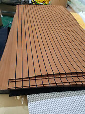 "Big Size Marine Boat EVA Faux Teak Decking Sheet Dark Brown 47"" X 94"" 1/4"" Thick"
