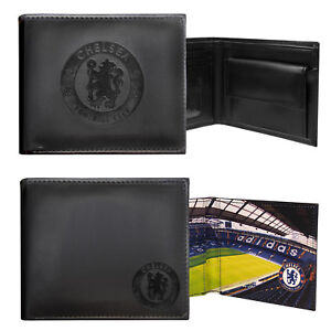 Chelsea-FC-Official-Football-Gift-Embossed-Crest-Wallet-Black