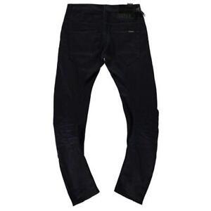 Mens-G-Star-Raw-Arc-Zip-3D-Loose-FIT-Tapered-Black-Effer-Denim-Jeans-5