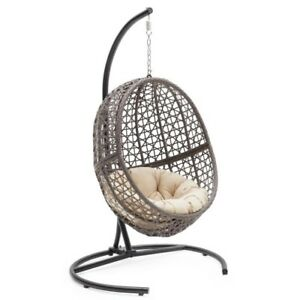 Image Is Loading Egg Hanging Chair Outdoor Wicker Resin Patio Swing
