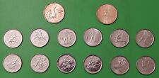 07-10 Canada Complete Set of 14 Vancouver Winter Olympic Coins From RCM Rolls